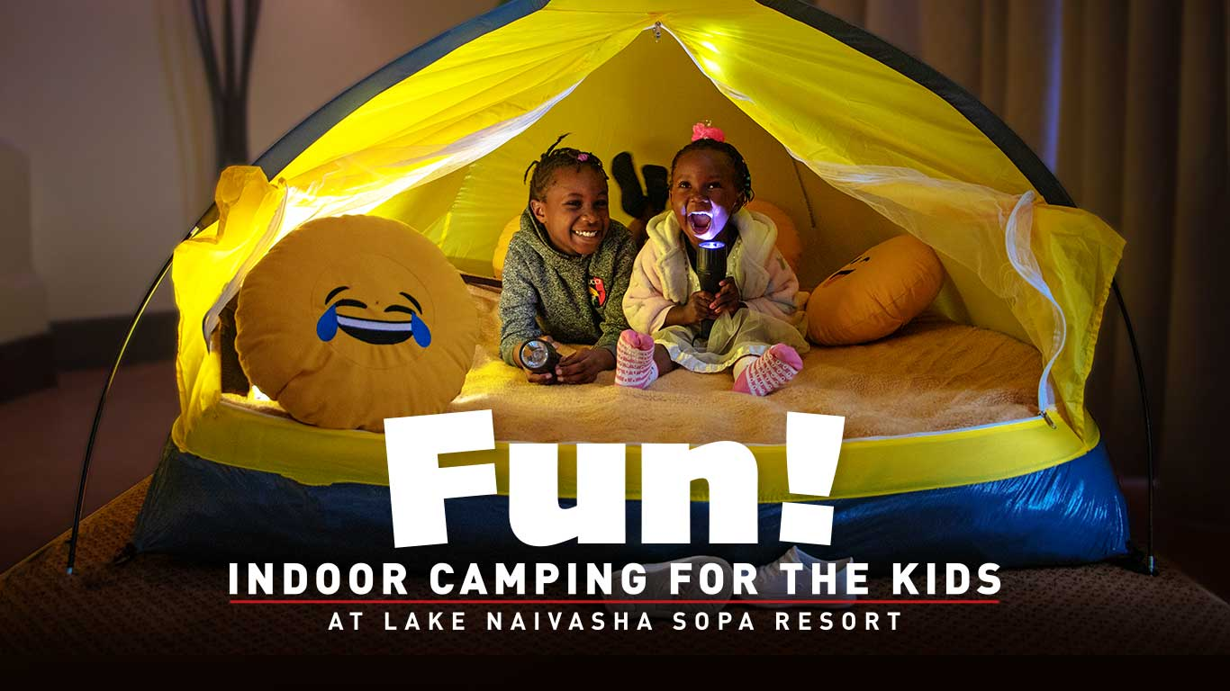 indoor camping at lake naivasha