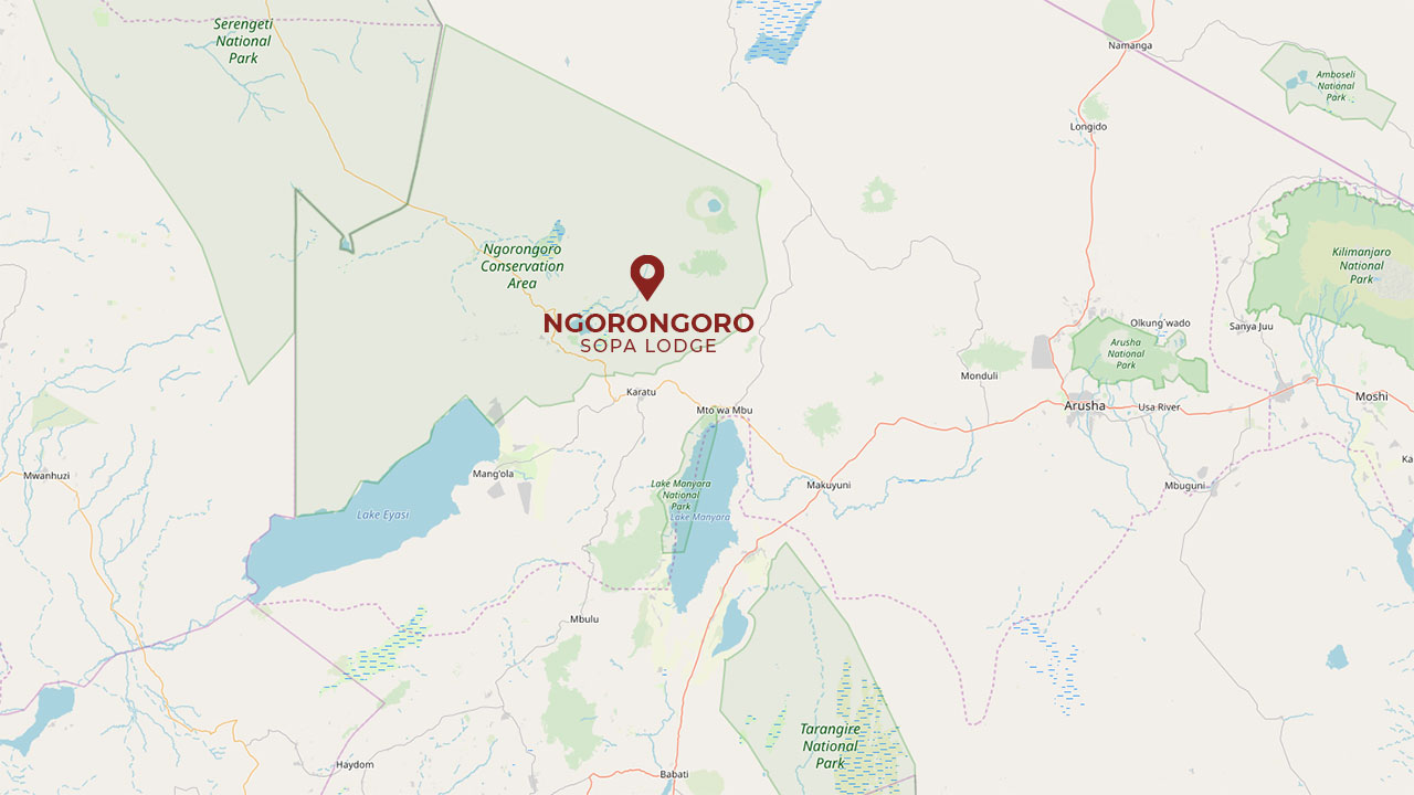 map ngorongoro sopa lodge